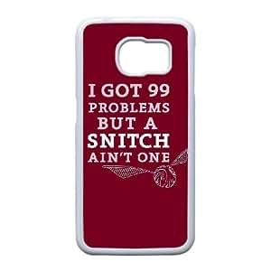 Snitch Cotizaciones caso Edge R6Z13S4UD funda Samsung Galaxy S6 funda XKYW6V blanco