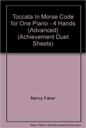 toccata in morse code for one piano 4 hands advanced achievement duet sheets