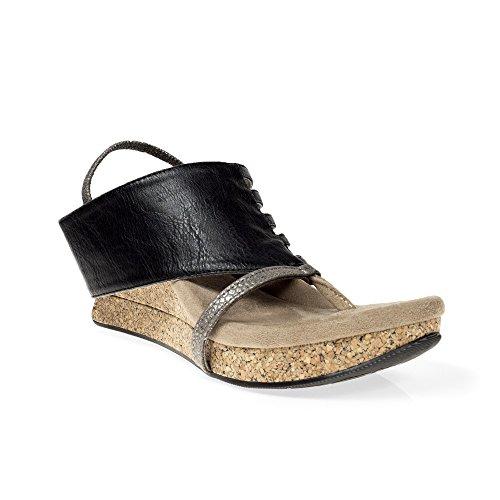 Modzori Elara Womens Mid Wedge Reversibile Twister Sandal