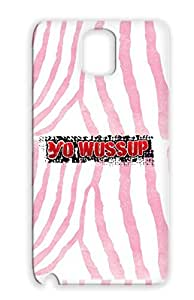 Yo Wussup Pink For Sumsang Galaxy Note 3 Shatterproof Art Design Mimer Graffiti Protective Case