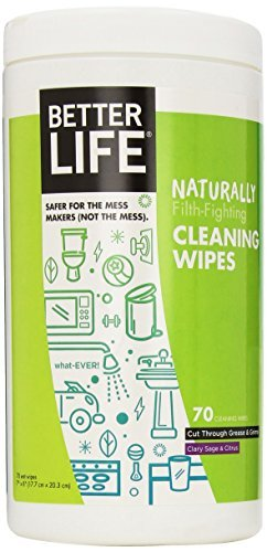Better Life All Purpose Cleaning Wipes, 70 count per pack - 6 per case. by Better Life