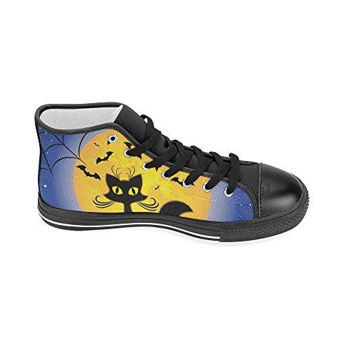 D-story Aangepaste Happy Halloween Pompoen Dames Klassieke Hoge Top Canvas Schoenen Mode Sneaker Multicoloured14
