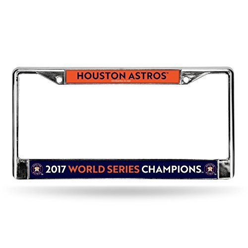 License Plate Series (Rico Tag Express MLB Houston Astros 2017 World Series Chrome Metal License Plate Frame 6