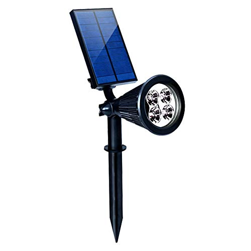 (GardenJoy Solar Spotlights, Upgraded 2 in 1 Outdoor Solar Spot Garden Lights, Waterproof Adjustable 4 LED Wall Light Landscape Lights Security Lighting, Solar Pathways Lights for Lawn, Patio, Walkway)