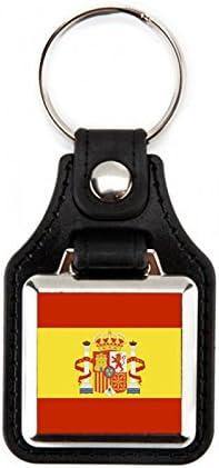 5 Llaveros Bandera de España | Llaveros Cuadrados Bandera España ...