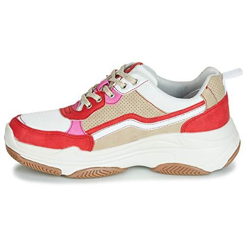 303 535 Weiß Baskets Mehrfarbig Mustang rot Femme Beige 535 1294 Hnxq0T75
