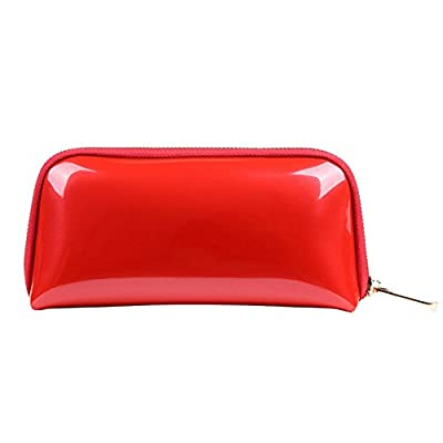 0195a6606f Drasawee Women Portable Cute Zipper Cosmetic Pouch Toiletry Handbag Makeup  Bag Coin Purse Red durable modeling
