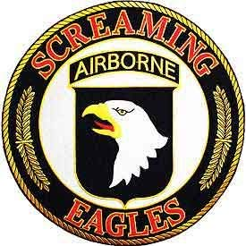 US Army, Screaming Eagles Airborne - Decorative Patches, Embroidered Iron On Patch - 10