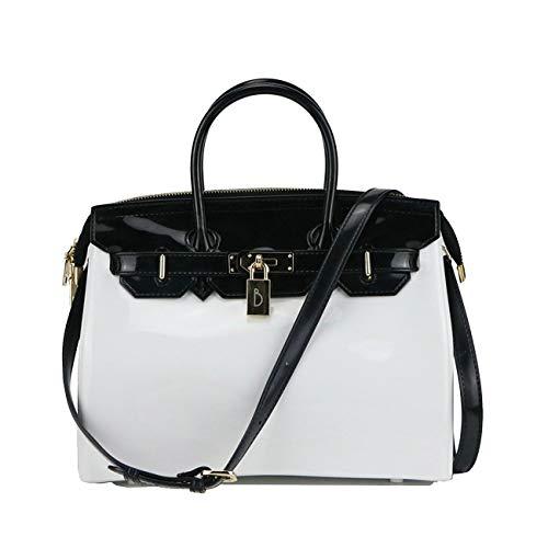 Para Mujer Large De Koon Et B Amarillo Asas Blanc Noir Bolso qwwtxP4