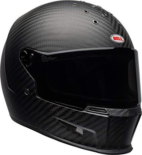 Bell Eliminator Carbon Street Motorcycle Helmet (Matte Black, X-Large) (Evolution Helmet Carbon)