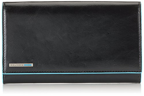 Piquadro Women's Wallet with Flap and Three Dividers with Document Holder, Black, One Size by Piquadro