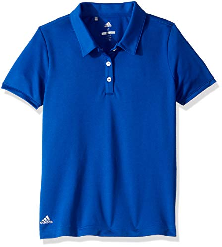 (adidas Golf Tournament Short Sleeve Polo, Collegiate Royal, Medium)