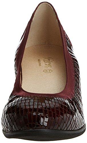 Dchicas 2690 Rouge wine 03 Bout Femme Burdeos Fermé Ballerines BBdrnxwqvR