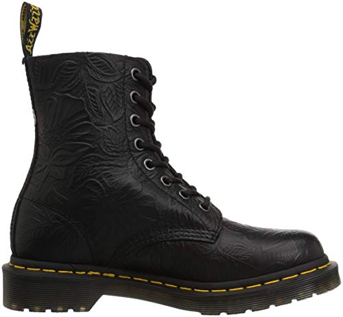 24002001 Floral Martens Black Emboss Boots Dr Pascal ZYqpxw4
