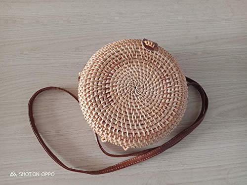 Wicker Straw Purse Rattan Bag Handwoven Women Shoulder Crossbody Summer Beach