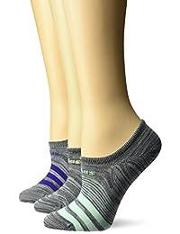 adidas para mujer Superlite súper sin calcetines de hípica (paquete de 3)
