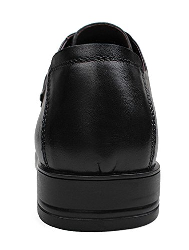 Liveinu up Oxford Wingtip Lace Black Shoes Leather Men's Dress rCPzqwr