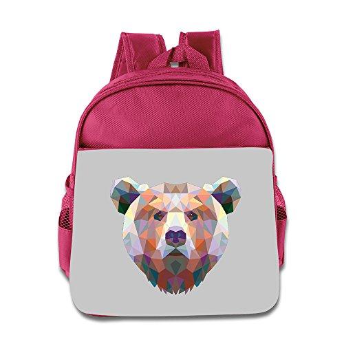 Hello-Robott Three Dimensional Cool Bear Animals Gift School Bag Backpack Pink