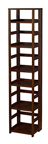 Regency House Living Room Furniture - Niche FFSQ6712MW Flip Flop Square Folding Bookcase, 67-inch, Mocha Walnut