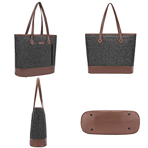 UtoteBag-Women-156-inch-Laptop-Tote-Bag-Notebook-Shoulder-Bag-Lightweight-Multi-Pocket-Nylon-Briefcase-Classic-Casual-Handbag