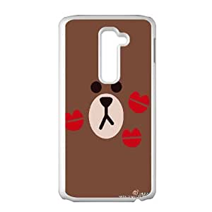 Printed Phone Case BROWN BEAR For LG G2 S1T3150