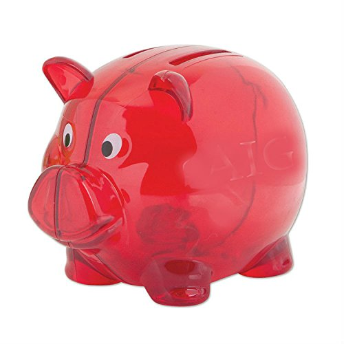 DDI 1879152 Red 4 in. Plastic Piggy Bank by DDI