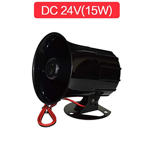 FidgetKute 15W Loudly Sound Siren Horn Outdoor with Bracket for Home Security Alarm Systems DC 24V (15W) ()