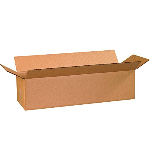 BOX USA B2486 Corrugated Boxes, 24''L x 8''W x 6''H, Kraft (Pack of 25) by BOX USA