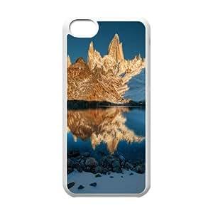 Fitz Roy at Sunrise IPhone 5C Cases, Iphone 5C Case Anti Fall Okaycosama - White