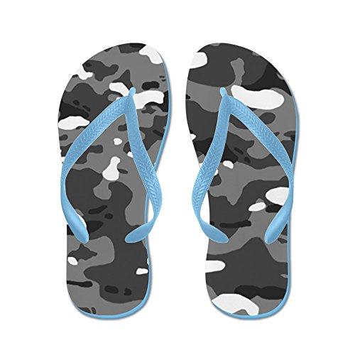 CafePress Military Camouflage: Urban II - Flip Flops, Funny Thong Sandals, Beach Sandals Caribbean Blue