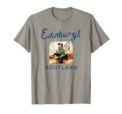 Scottish Bagpipes Edinburgh SCOTLAND Vintage Graphic T-Shirt