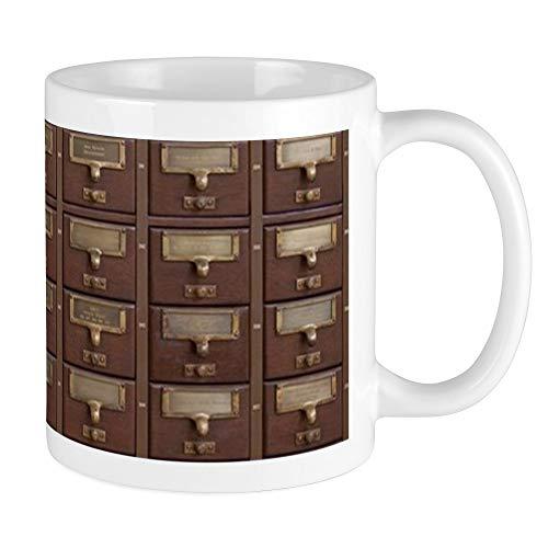 CafePress Vintage Library Card Catalog Drawers Mugs Unique Coffee Mug, Coffee Cup -