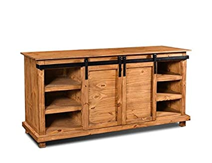 Amazon Com Crafters And Weavers Westgate Rustic Wood 66 Sliding