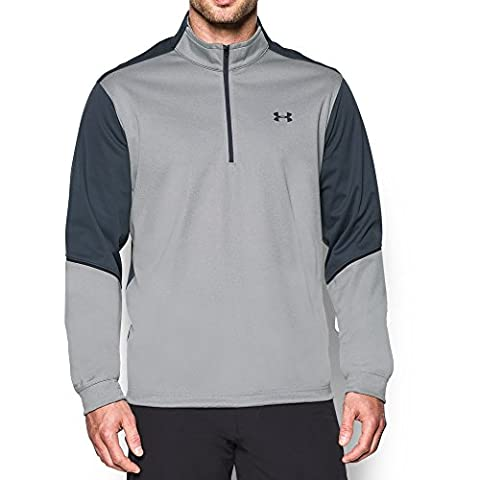 Under Armour Men's Storm Elements ½ Zip, True Gray Heather/Stealth Gray, (Under Armour Mens Pullover)