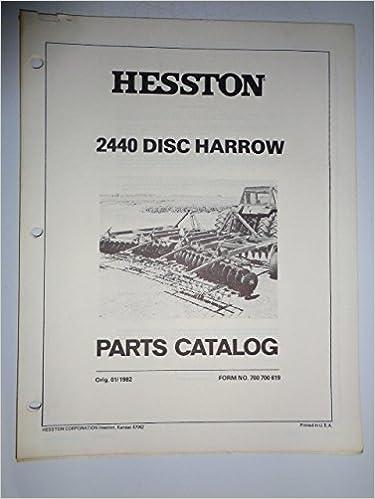 Hesston 2440 Disc Harrow Parts Catalog Manual Book 700 700 619