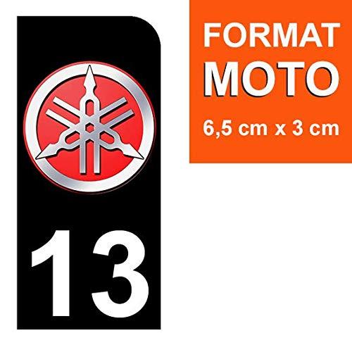 Stickers Garanti 5 Ans DECO-IDEES 1 Sticker pour Plaque dimmatriculation Moto Nos Stickers sont recouvert dun pelliculage de Protection sp/écifique 13 Yamaha
