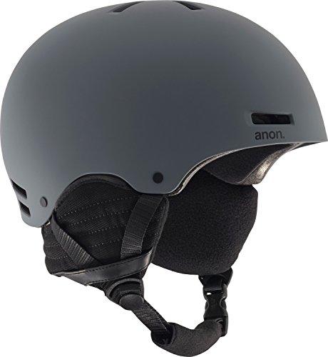 2012 Burton Mens Snowboard (Anon Men's Raider Helmet, Dark Gray, Large)