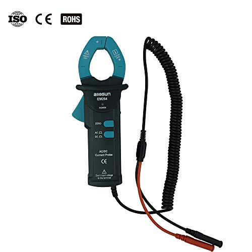 allsun AC/DC Current Clamp Probe Tester Handheld Digital Clamp Multimeter CAT III Max.Input 400A/600V 50Hz-60Hz LED