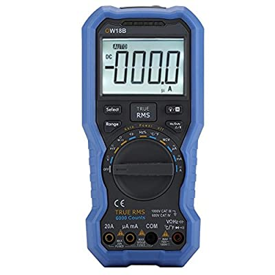 Akozon Bluetooth Digital Multimeter OW18B Tester Data Logger Thermometer-Supported Mobile App-True RMS-Flashlight-NCV Non-Contact Voltage Sense-Muti-Devices Connection-Offline Record Function