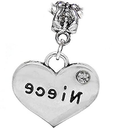 Amazoncom Niece Heart Clear Rhinestone Aunt Uncle Gift