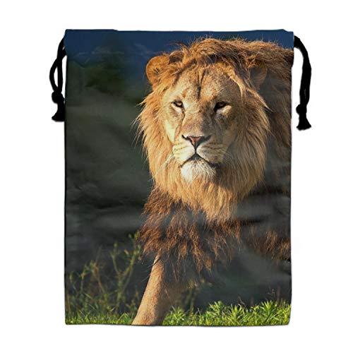 (Large Size A Robust Lion Drawstring Bag, Party Favor Bag, Overnight Bag)
