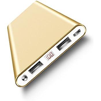 Polanfo 12000mAh Portable External Power Bank - Gold