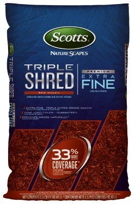 Scotts Organic Group 88459410 1.5 cu. Ft. Triple Shred Color Enhanced Mulch, Red