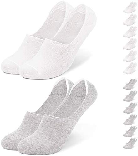 Occulto - 6 pares de calcetines invisibles de algodón para hombre ...