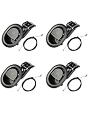 IUAQDP 4 Pieces Sofa Recliner Replacement Parts Plastic Pull Recliner Handle with Extension Cable Fits Major Recliner Couch Style Pull Chair Release Handle