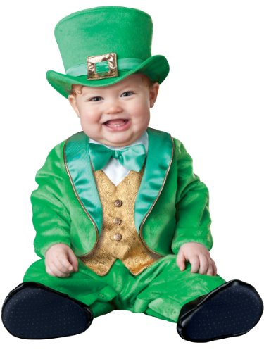 InCharacter Costumes Baby's Lil' Leprechaun Costume, Green/Gold/White, Medium (12 Months-18 Months)