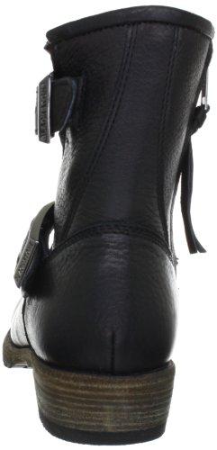 Blackstone ISABELLA FUR EW62 - Botines fashion de cuero para mujer Negro