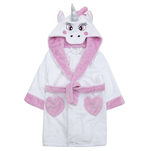 Childrens Novelty Unicorn Snuggle Fleece Dressing Gown with Tail