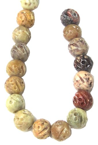 Bead Collection 40427 Soapstone Amber Beads, 10-Inch Semi Precious Stones Amber