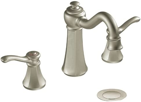 Moen T6305BN Vestige Two-Handle High Arc Bathroom Faucet without Valve, Brushed Nickel